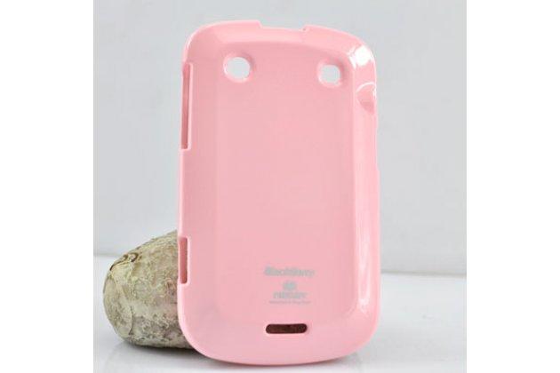 Ультра-тонкая полимерная из мягкого качественного силикона задняя панель-чехол-накладка для blackberry bolt 9900 розовая