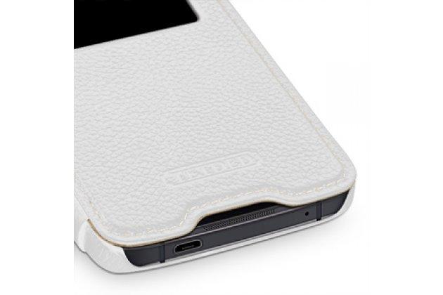 Чехол-книжка для blackberry dtek50 белый с окошком для входящих вызовов водоотталкивающий