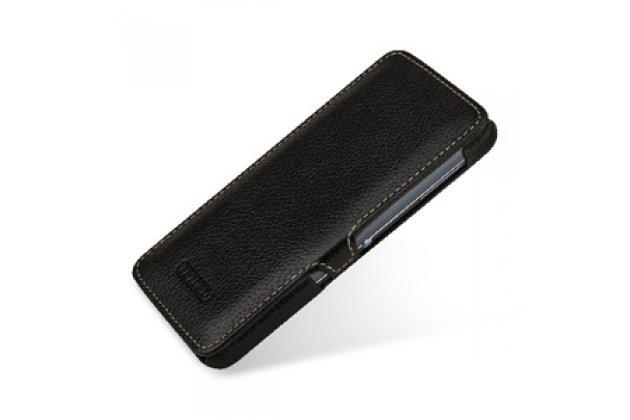 Умный премиальный элитный чехол-книжка из качественной импортной кожи с функцией засыпания для blackberry neon/ blackberry dtek50 черный