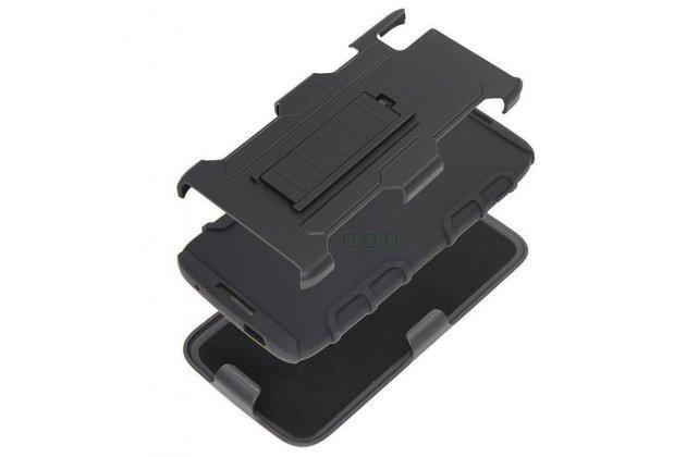 Противоударный усиленный ударопрочный чехол-бампер-пенал для blackberry neon/ blackberry dtek50 черный