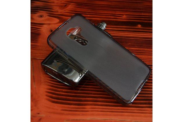 Ультра-тонкая полимерная из мягкого качественного силикона задняя панель-чехол-накладка для blackberry dtek60 черная