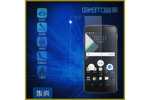 Защитное закалённое противоударное стекло премиум-класса из качественного японского материала с олеофобным покрытием для телефона blackberry dtek60