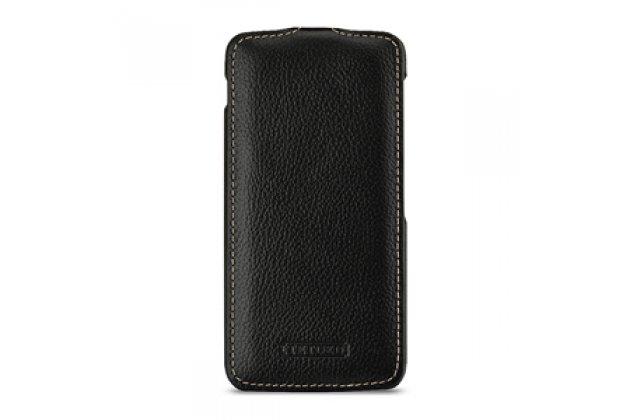 Умный элитный вертикальный откидной чехол-флип с функцией засыпания для blackberry dtek60 черный из натуральной кожи prestige италия