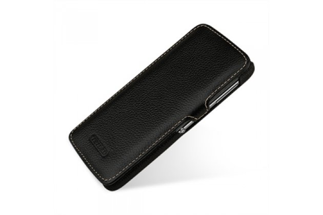 Умный премиальный элитный чехол-книжка из качественной импортной кожи с функцией засыпания для blackberry dtek60 черный