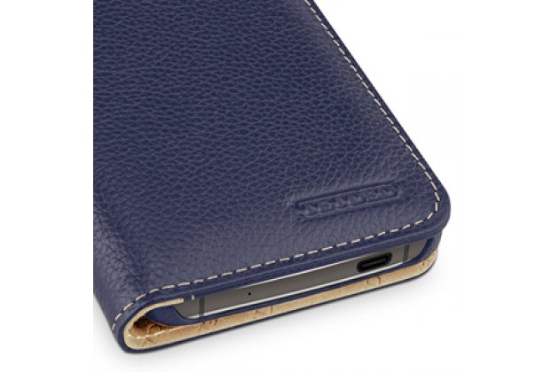Умный премиальный элитный чехол-книжка с визитницей из качественной импортной кожи с функцией засыпания для blackberry dtek60  синий