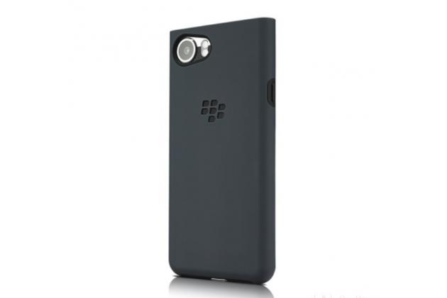 Подлинная задняя панель-крышка с логотипом из мягкого качественного силикона для blackberry keyone/ dtek70 серая