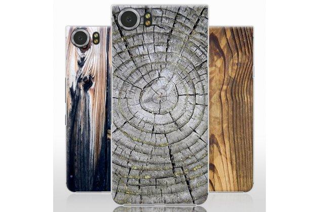 Из тончайшего прочного пластика задняя панель-крышка-накладка с рисунком под дерево для blackberry keyone/ dtek70