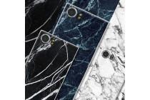 Из тончайшего прочного пластика задняя панель-крышка-накладка с рисунком под мрамор для blackberry keyone/ dtek70 цвет малахит