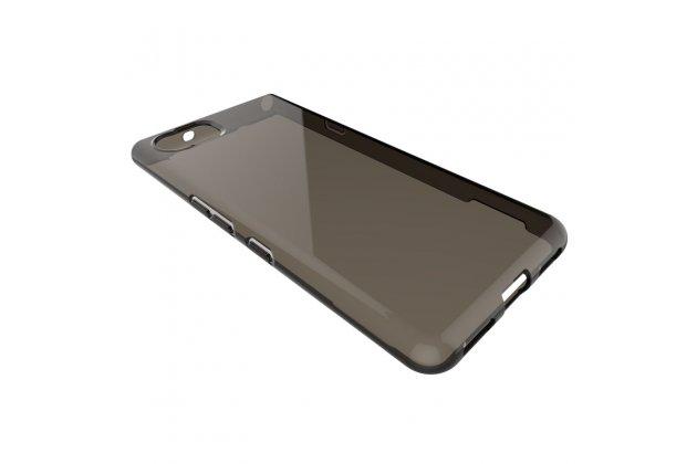 Задняя панель-крышка-накладка из тончайшего и прочного пластика для blackberry keyone/ dtek70 черная