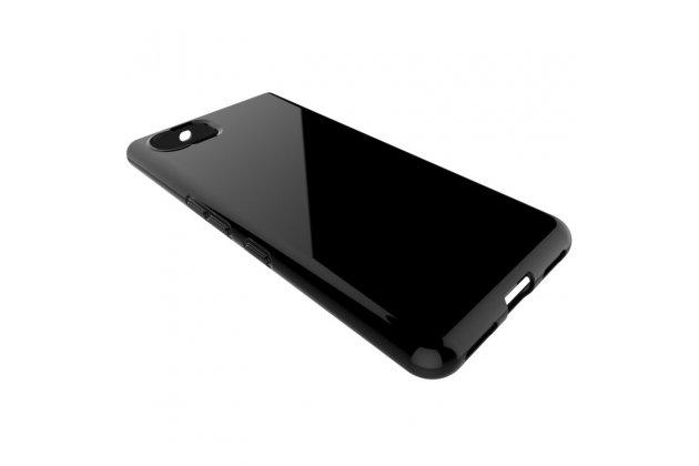 Задняя панель-крышка-накладка из ультра-тонкого силикона для blackberry keyone/ dtek70 черная