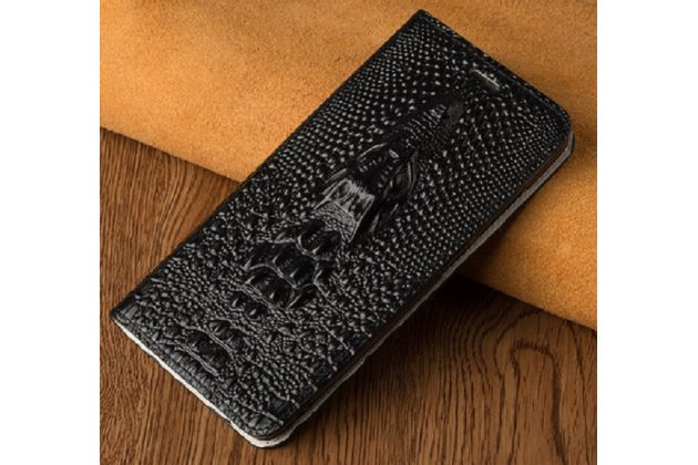 Роскошный эксклюзивный чехол с объёмным 3d изображением кожи крокодила черный для blackberry keyone/ dtek70 . только в нашем магазине. количество ограничено