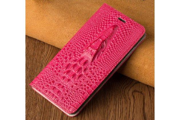 Роскошный эксклюзивный чехол с объёмным 3d изображением кожи крокодила розовый для blackberry keyone/ dtek70 . только в нашем магазине. количество ограничено
