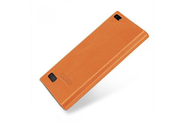 Премиальная элитная крышка-накладка из тончайшего прочного пластика и качественной импортной кожи для blackberry leap z20  ретро под старину коричневая