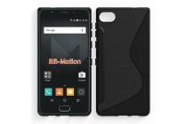 Ультра-тонкая полимерная из мягкого качественного силикона задняя панель-чехол-накладка для blackberry motion / blackberry krypton черная