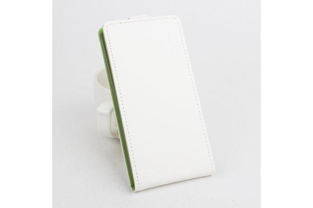 Вертикальный откидной чехол-флип для blackberry priv белый из натуральной кожи prestige