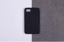 Задняя панель-крышка-накладка из тончайшего и прочного пластика для blackberry q5 черная