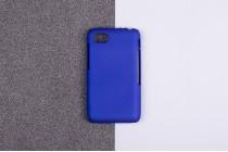 Задняя панель-крышка-накладка из тончайшего и прочного пластика для blackberry q5 синяя