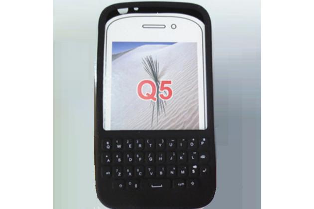 Силиконовый чехол-пенал для blackberry q5 с 3d клавиатурой и защитой кнопок от пыли и воды черный
