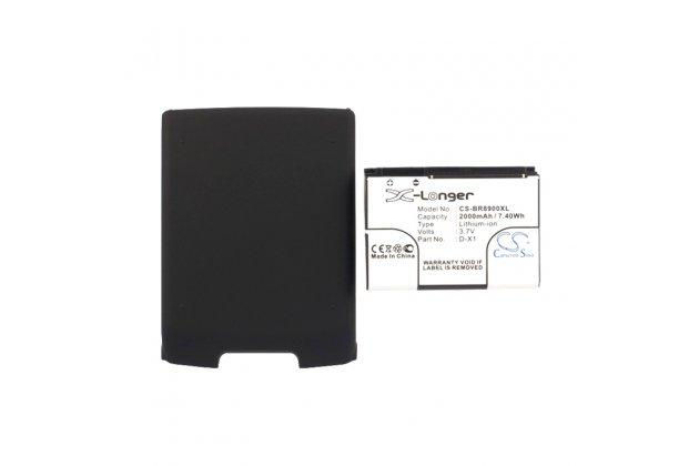 Усиленная батарея-аккумулятор большой повышенной ёмкости 2000 mah для телефона blackberry storm 9500 + гарантия