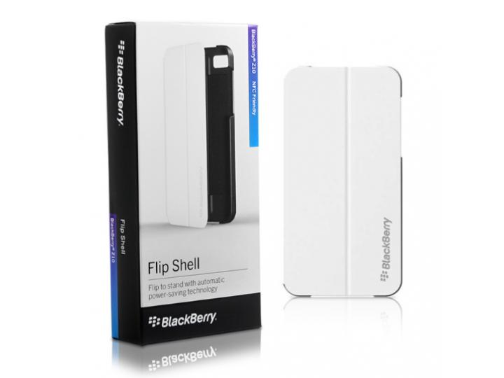 Официальный чехол книжка flip shell case с логотипом для blackberry z10 / blackberry porsche design p'9982 и м..