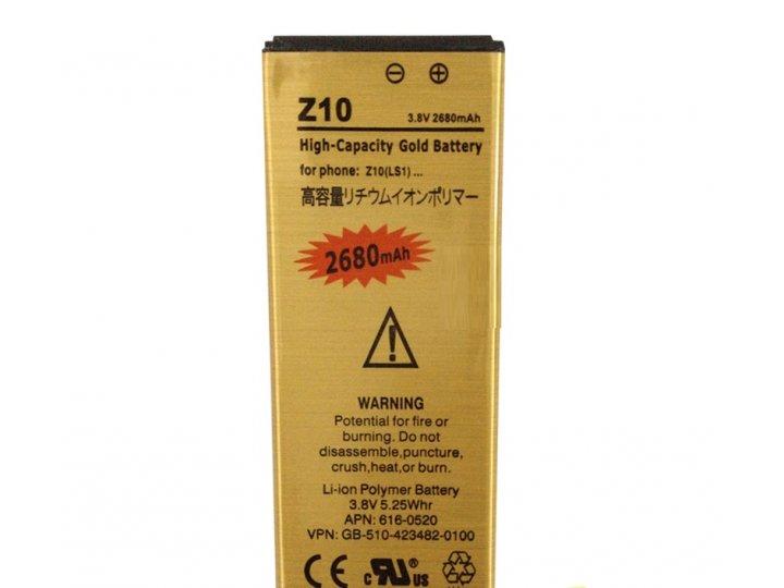 Усиленная батарея-аккумулятор большой повышенной ёмкости 2680 mah для телефона blackberry z10 + гарантия..