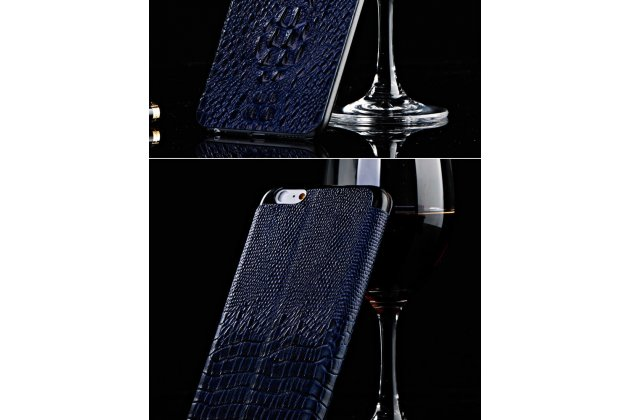 Роскошный эксклюзивный чехол с объёмным 3d изображением рельефа кожи крокодила синий для blackberry z3 . только в нашем магазине. количество ограничено