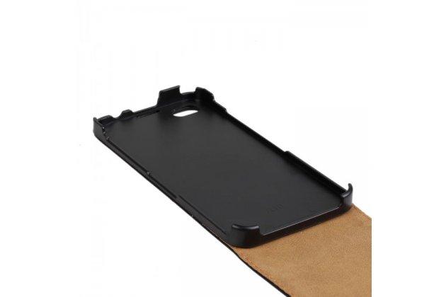 Вертикальный откидной чехол-флип для blackberry z30 черный из натуральной кожи prestige италия