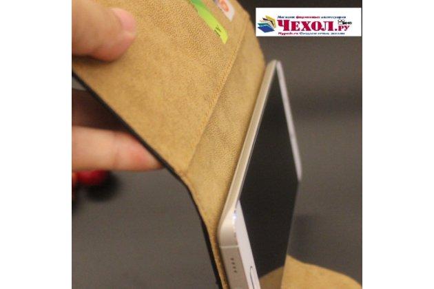 Чехол-книжка из качественной импортной кожи с визитницей для fly fs551 nimbus 4 черный