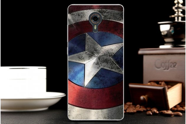 """Задняя панель-крышка-накладка из тончайшего силикона для wileyfox swift  с объёмным 3d рисунком тематика """"патриот"""""""