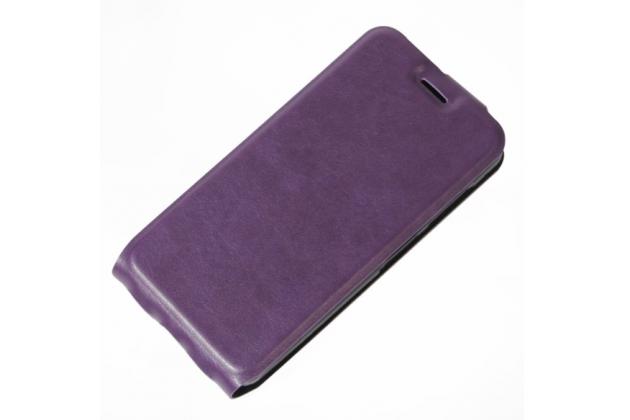 Вертикальный откидной чехол-флип для wileyfox swift фиолетовый из кожи prestige италия