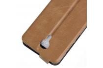 Вертикальный откидной чехол-флип для wileyfox swift коричневый из кожи prestige италия
