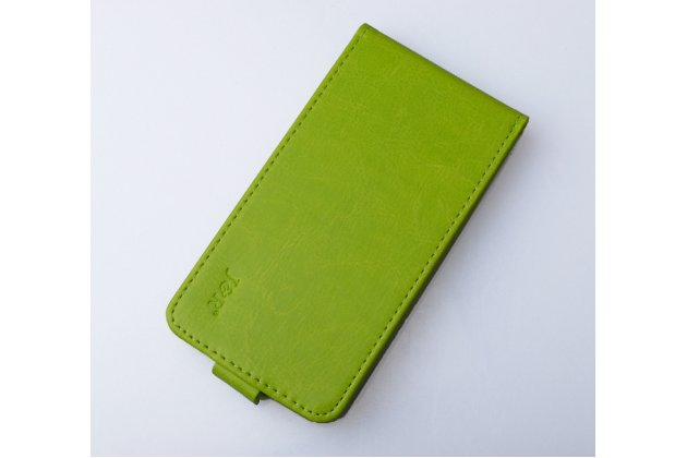 Вертикальный откидной чехол-флип для wileyfox swift зеленый из натуральной кожи prestige италия