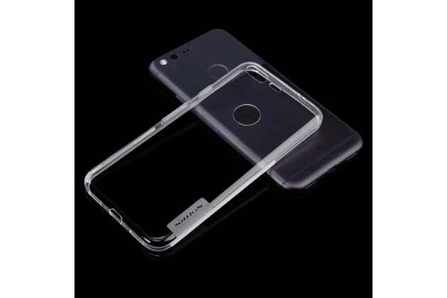 Ультра-тонкая полимерная из мягкого качественного силикона задняя панель-чехол-накладка для google pixel/htc google nexus 2016/ htc nexus s1 светло-серого цвета