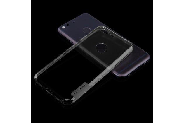 Ультра-тонкая полимерная из мягкого качественного силикона задняя панель-чехол-накладка для google pixel/htc google nexus 2016/ htc nexus s1 тёмно-серого цвета