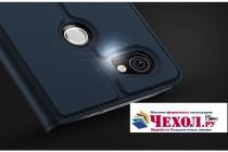 Премиальный элитный чехол-книжка с мульти-подставкой и визитницей для google pixel 2 xl водоотталкивающий цвет синий