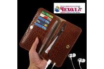 Чехол-портмоне-клатч-кошелек на силиконовой основе из качественной импортной кожи коричневый для google pixel 2 xl