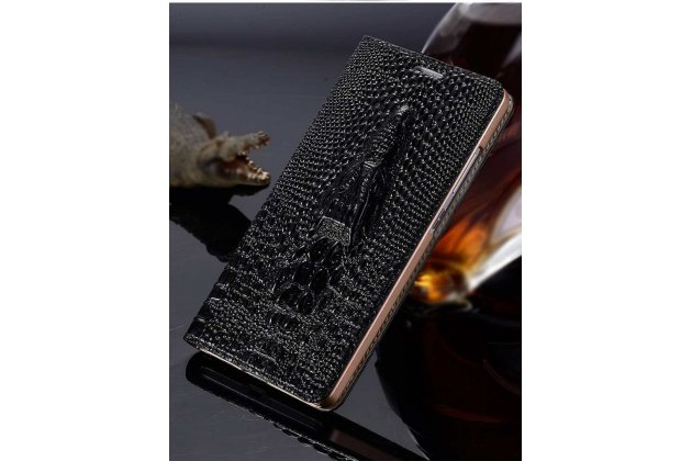 Роскошный эксклюзивный чехол с объёмным 3d изображением кожи крокодила черный для google pixel 2 xl . только в нашем магазине. количество ограничено