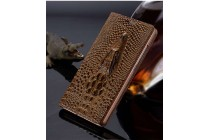 Роскошный эксклюзивный чехол с объёмным 3d изображением кожи крокодила коричневый для google pixel 2 xl . только в нашем магазине. количество ограничено