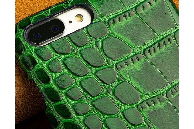 Роскошная элитная премиальная задняя панель-крышка на пластиковой основе обтянутая лаковой кожей крокодила для google pixel 2 зеленая