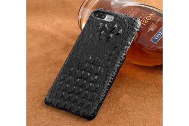 Роскошный эксклюзивный чехол-накладка с объёмным 3d изображением рельефа кожи крокодила черный для google pixel 2. только в нашем магазине. количество ограничено
