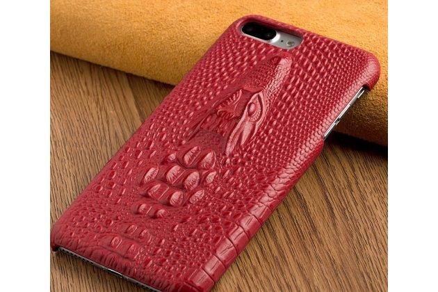 Роскошная эксклюзивная накладка с объёмным 3d изображением рельефа кожи крокодила красная для google pixel 2. только в нашем магазине. количество ограничено