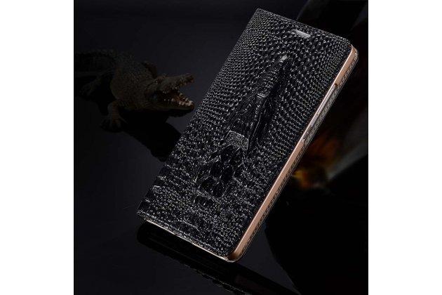Роскошный эксклюзивный чехол с объёмным 3d изображением кожи крокодила черный для google pixel 2. только в нашем магазине. количество ограничено