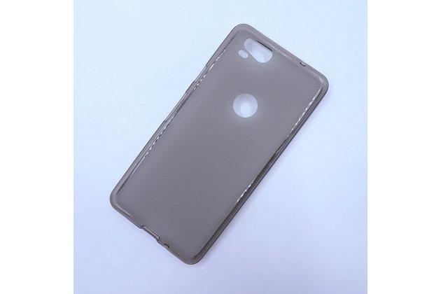 Ультра-тонкая полимерная из мягкого качественного силикона задняя панель-чехол-накладка для google pixel 2 серая