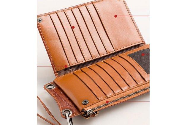 Чехол-портмоне-клатч-кошелек из качественной импортной кожи для google pixel 2 кожа крокодила коричневый