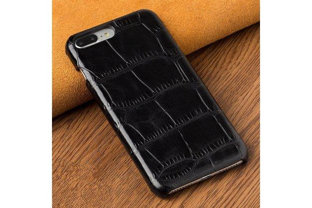Роскошная элитная премиальная задняя панель-крышка на пластиковой основе обтянутая лаковой кожей крокодила для google pixel 2 черная