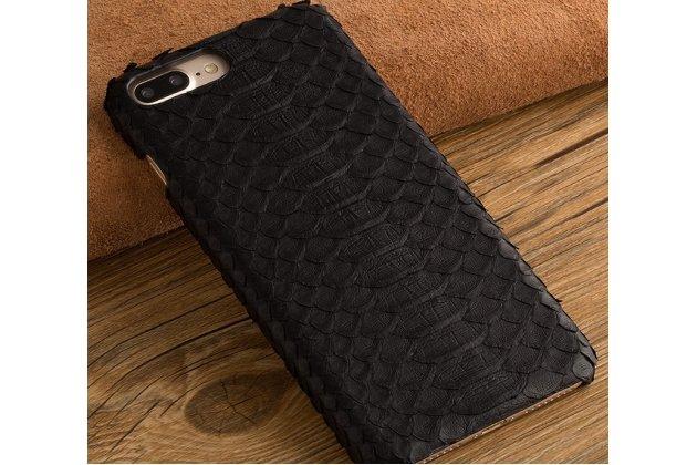 Роскошная элитная премиальная задняя панель-крышка на пластиковой основе обтянутая фактурной кожей змеи для google pixel 2 черная
