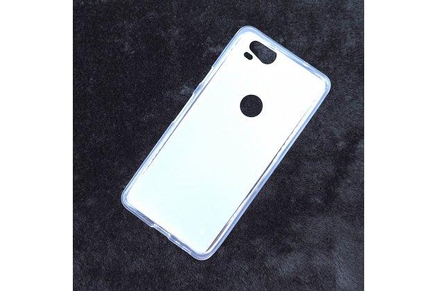 Ультра-тонкая полимерная из мягкого качественного силикона задняя панель-чехол-накладка для google pixel 2 белая