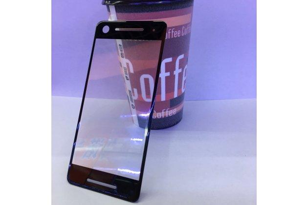 3d защитное изогнутое стекло с закругленными изогнутыми краями которое полностью закрывает экран / дисплей по краям с олеофобным покрытием для google pixel 2