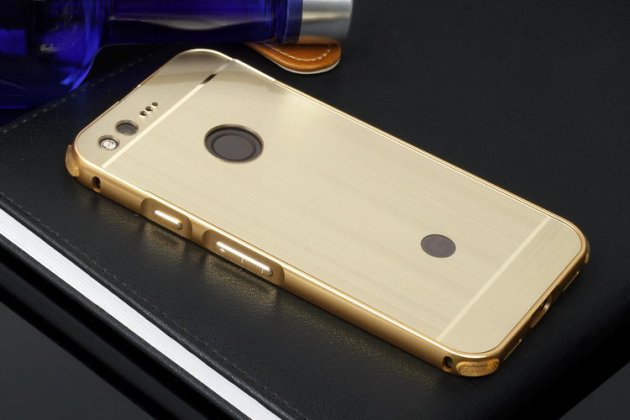 Металлическая задняя панель-крышка-накладка из тончайшего облегченного авиационного алюминия для google pixel xl/htc google nexus marlin m1 золотого цвета