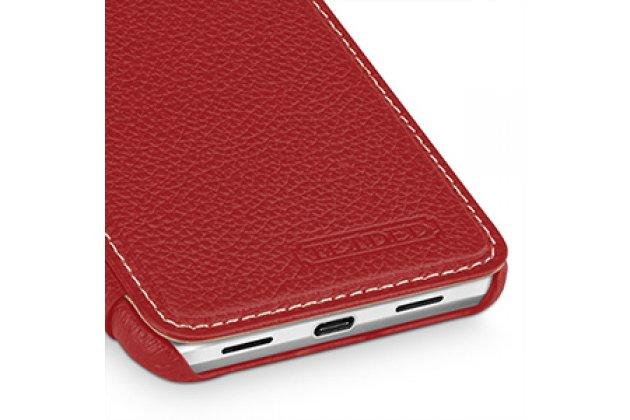 Чехол-футляр-книжка для google pixel xl/htc google nexus marlin m1 красного цвета кожаный.